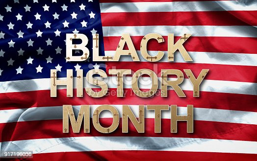 istock Black History Month (African-American History Month ) background design for celebration and recognition in the month of February. 917196036
