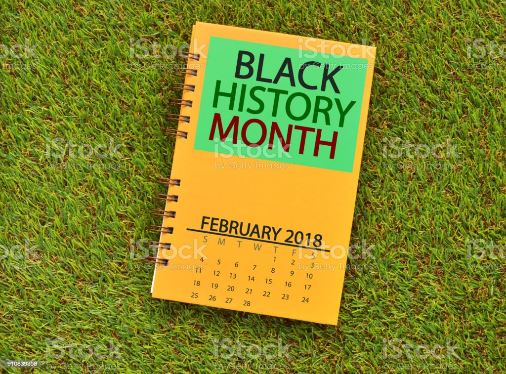 Black History Month Book stock photo