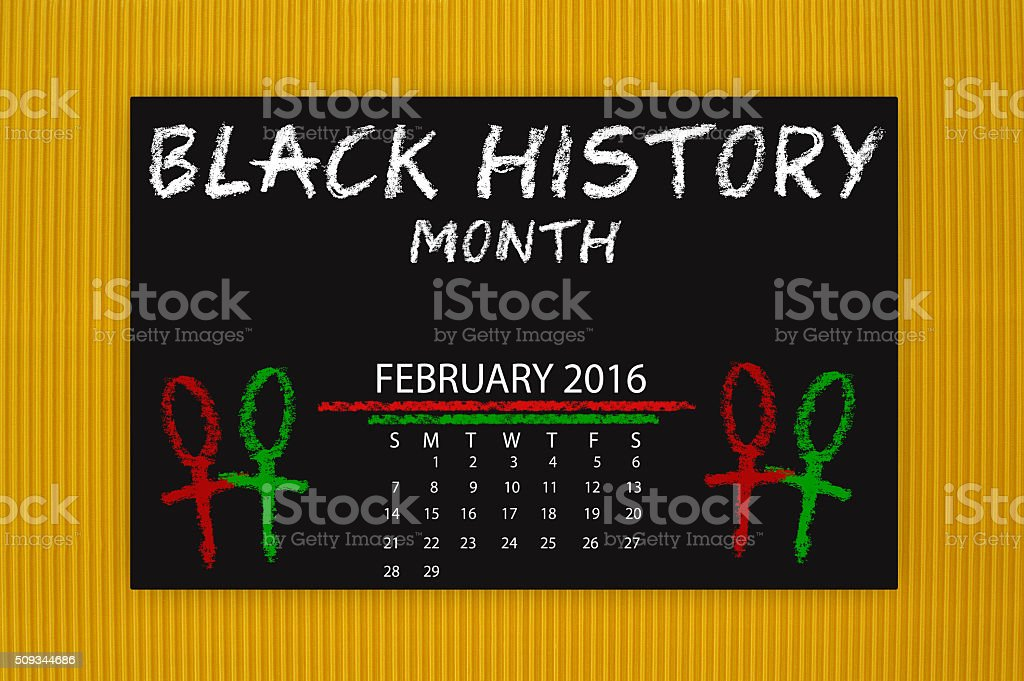 Black History Month February Calendar stock photo