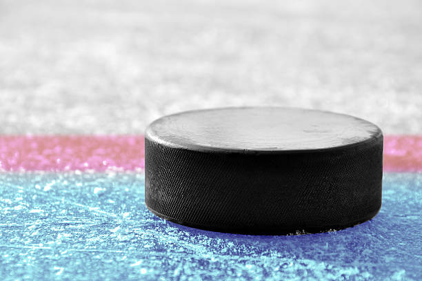 black hockey puck - hockey puck stock photos and pictures