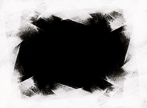 istock Black hole - abstract texture painted carelessly with a paint roller on white color - dotted messy uneven irregular composition 1028904402