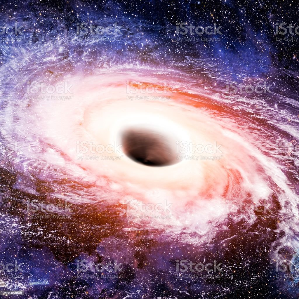Black hole concept. stock photo