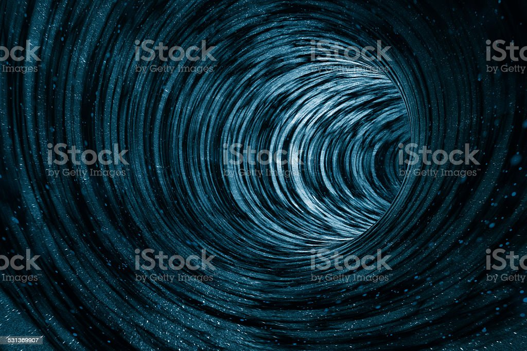 Black hole concept with deep universe galaxy, planets, stars stock photo