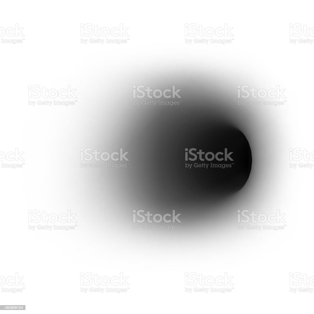 Black hole on absolute white background. 3d stock photo