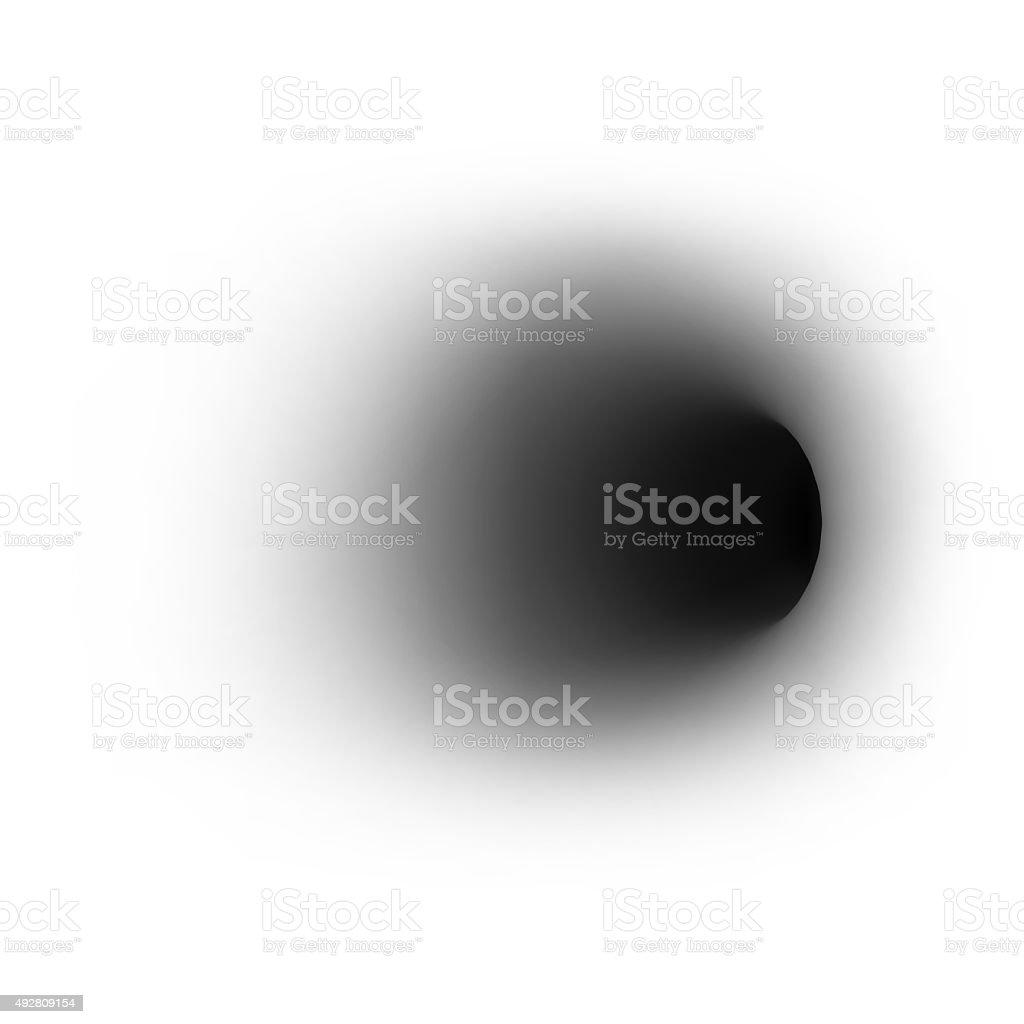 Schwarzes Loch auf absolute weißem Hintergrund. 3 d – Foto