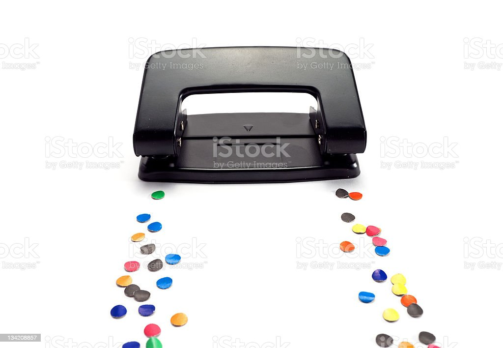 Black hole punch. stock photo