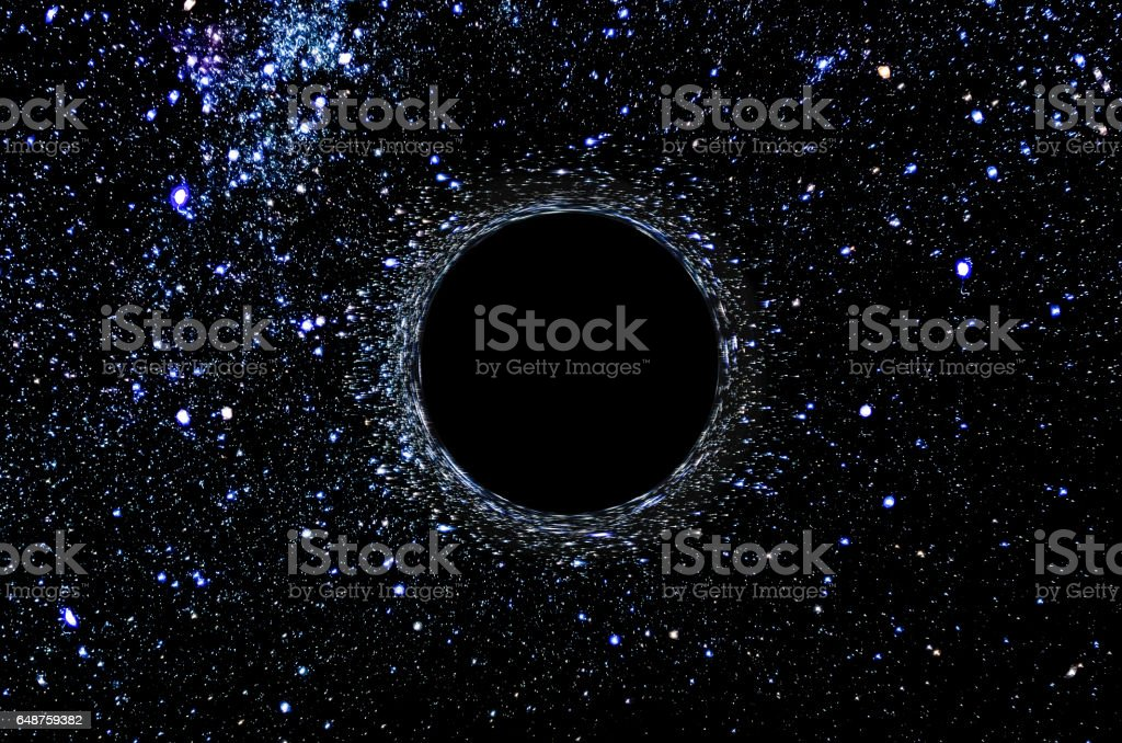 black hole space 2017 discovery concept digital created stock photo