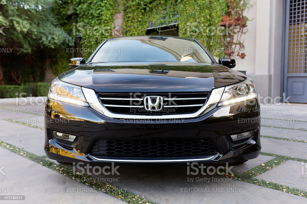 2013 Black Honda Accord Sedan stock photo