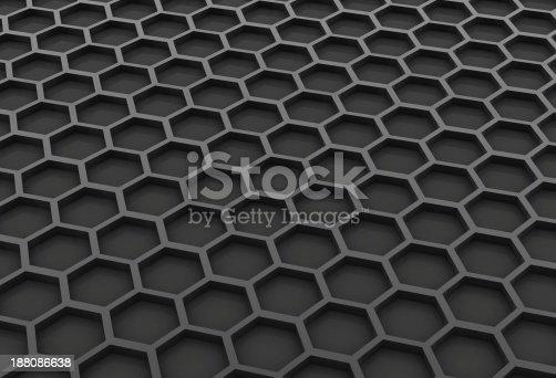 istock Black honeycomb 188086638