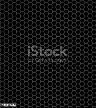 istock Black honeycomb 468341282