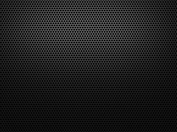 Black honeycomb stock photo