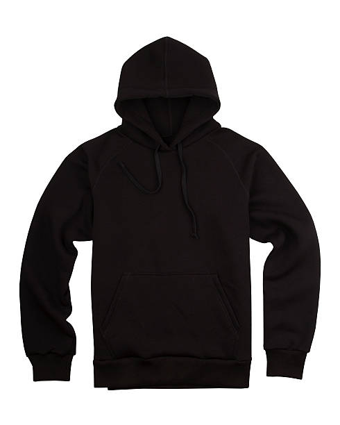 Black hooded shirt stock photo
