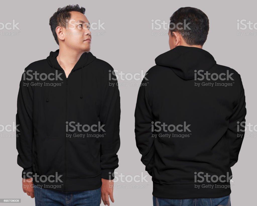 Black Hoodie Mock up stock photo