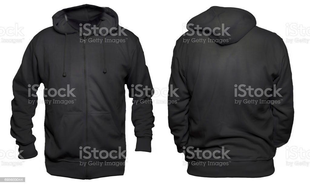 Black Hoodie Mock up stock photo