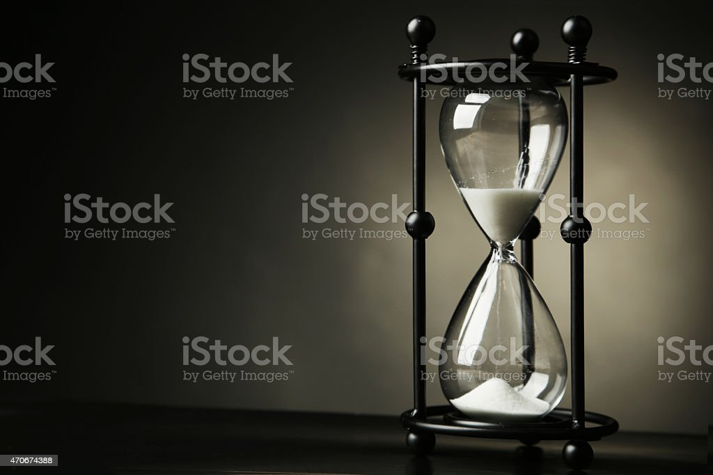 Black hourglass stock photo
