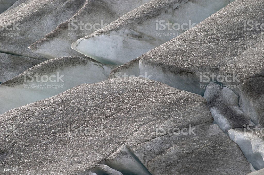 Black ice crevasse on Rhone glacier Furka Pass, Alps, Valais royalty-free stock photo