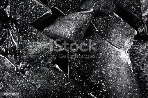 istock Black ice texture. 939291372