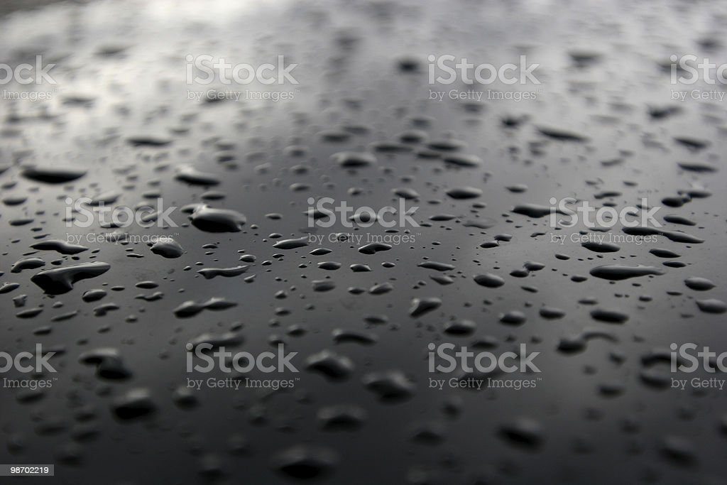 black ice [ water droplets ] royalty-free stock photo