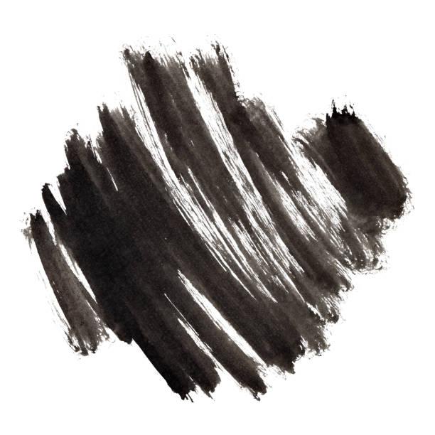 Black ink bursh strokes stock photo