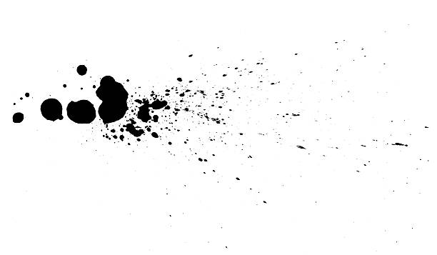Black ink drops. stock photo