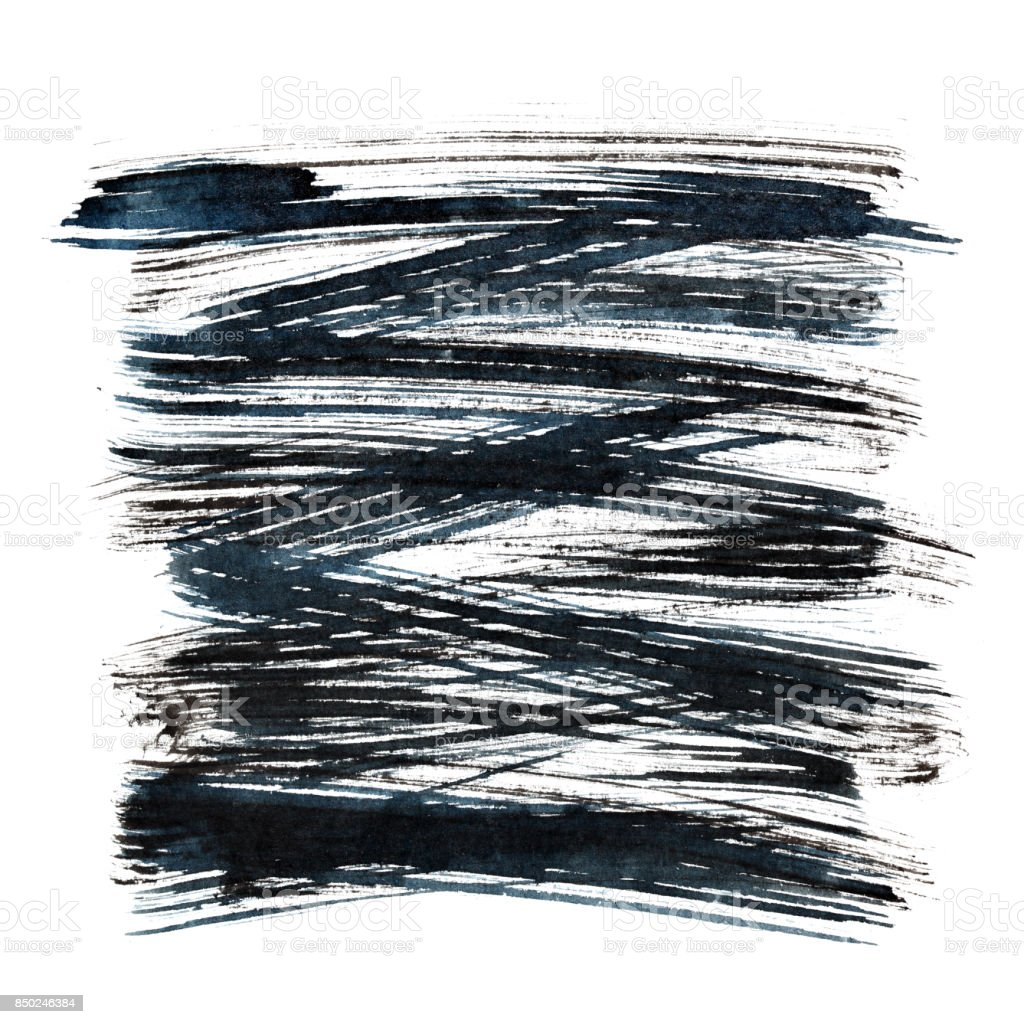 Black ink hatched square stock photo