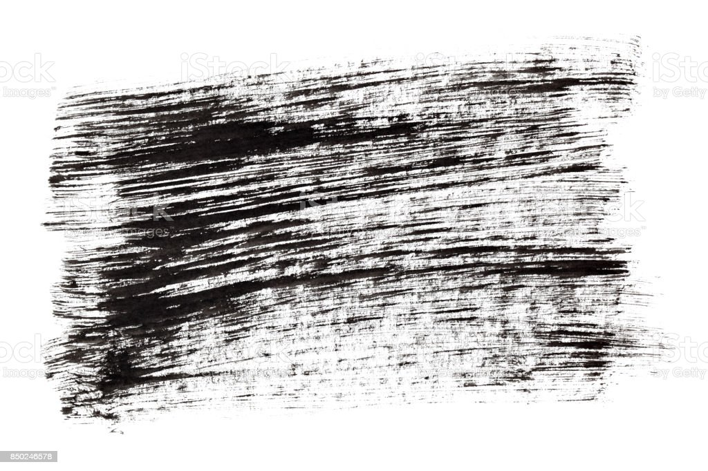 Black ink hatched texture stock photo