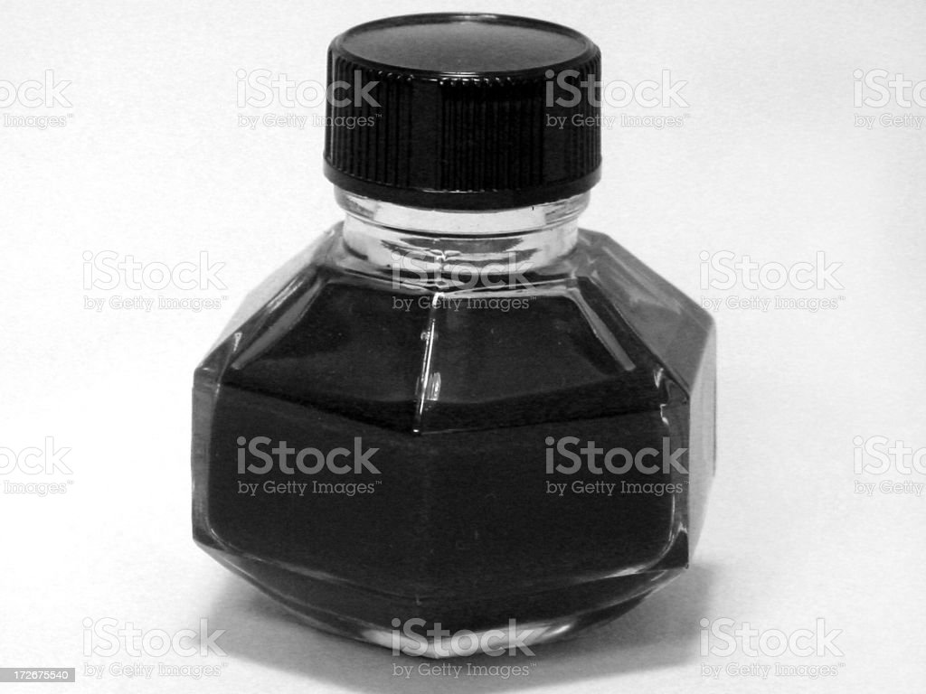 black ink royalty-free stock photo