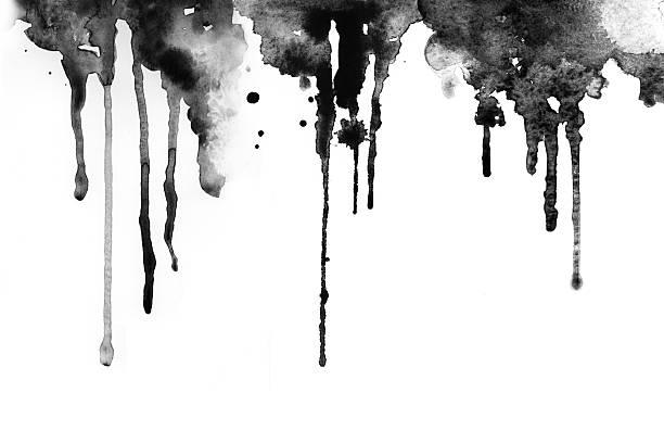 czarny atrament - kropla zdjęcia i obrazy z banku zdjęć