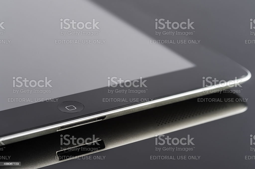 Black Ipad3 composition royalty-free stock photo