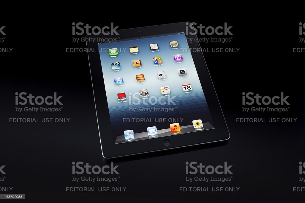 Black ipad3 royalty-free stock photo