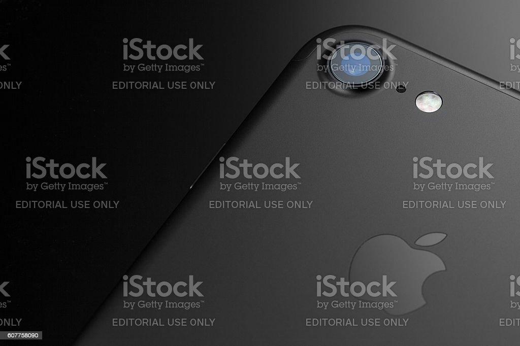 Black iPhone 7 Camera and Flash - foto de acervo