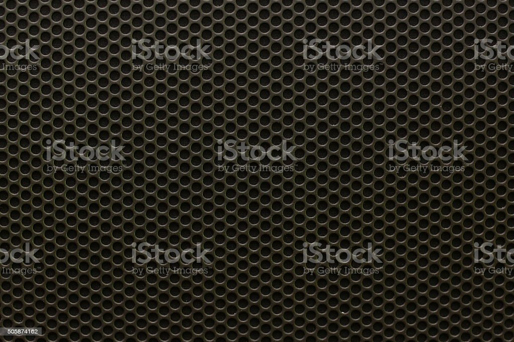 Black iron speaker grid texture, seamless pattern stock photo