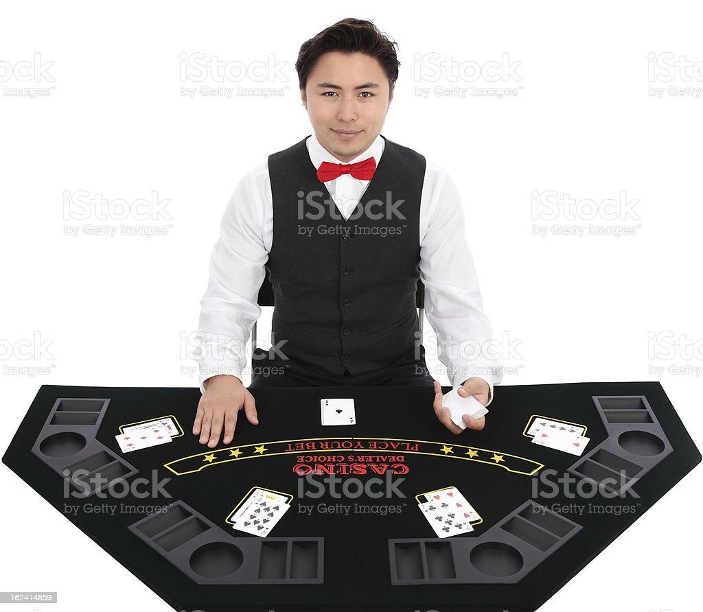 Black Jack Dealer stock photo
