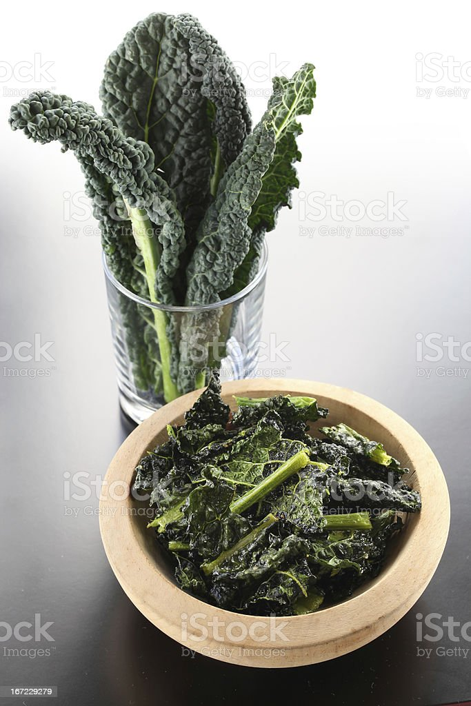black kale chips royalty-free stock photo
