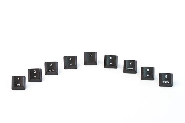 Teclado negro botones - foto de stock