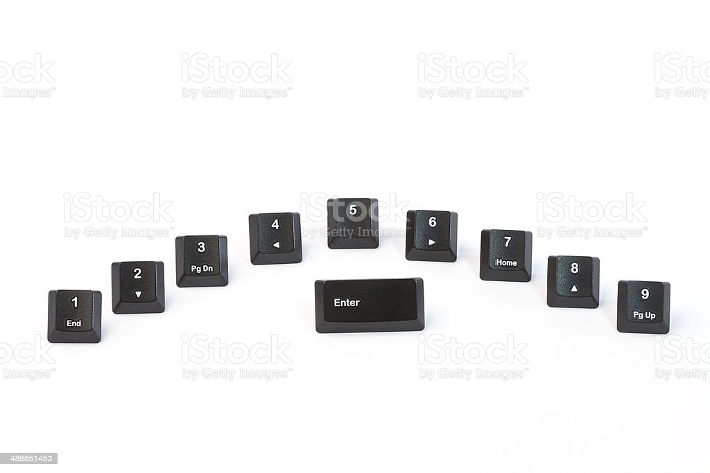 Black keyboard buttons stock photo