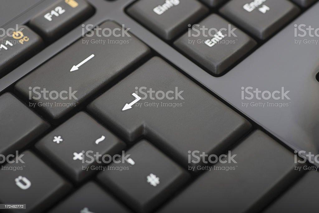 black keyboard macro close-up royalty-free stock photo