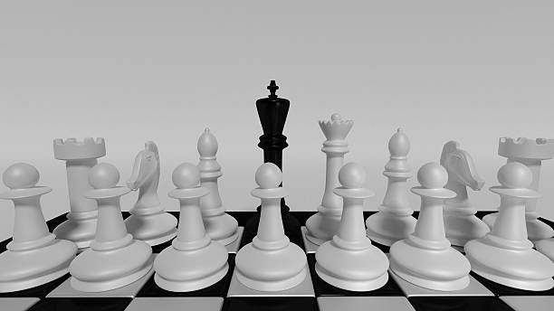 black king for white pieces - defection stock photos and pictures