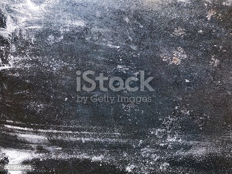 istock Black kitchen board with flour or powdered sugar 801994988