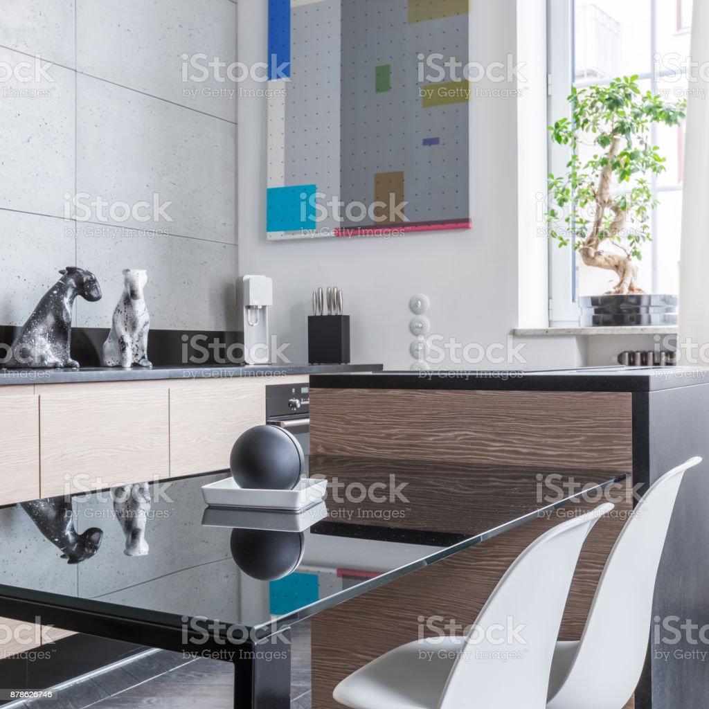 Schwarze Küche Tisch Stockfoto und mehr Bilder von ...