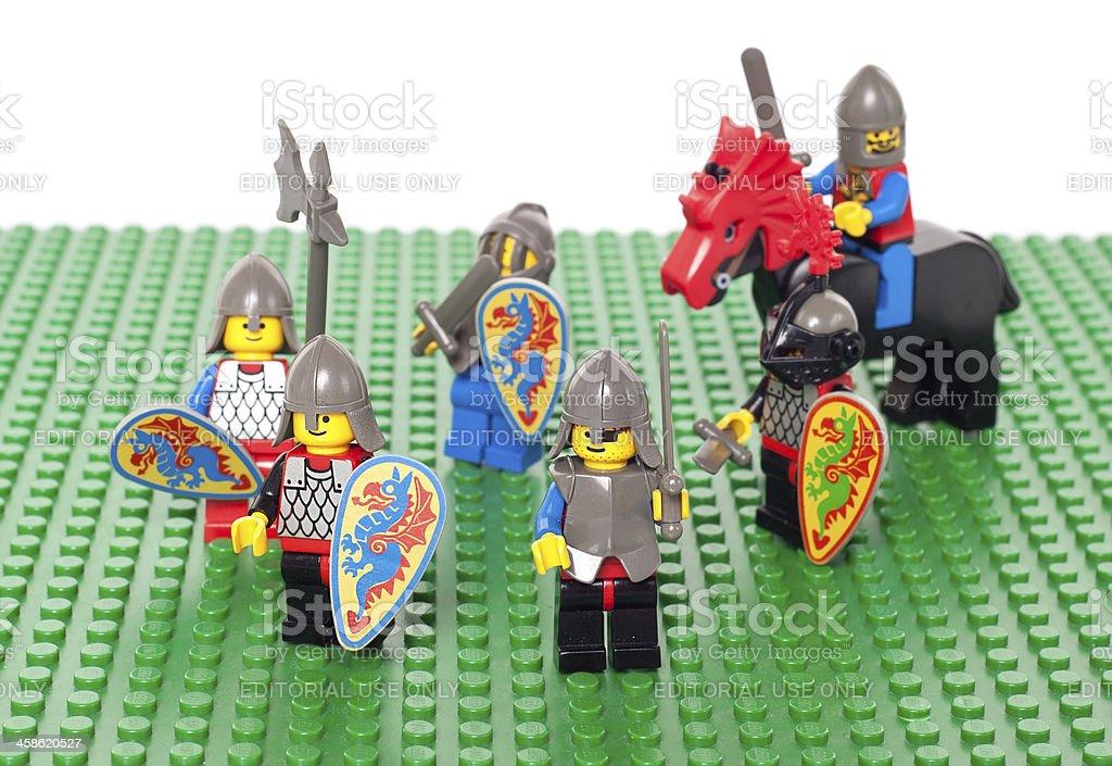 レゴ 1992 ブラックの騎士の人物 ストックフォト