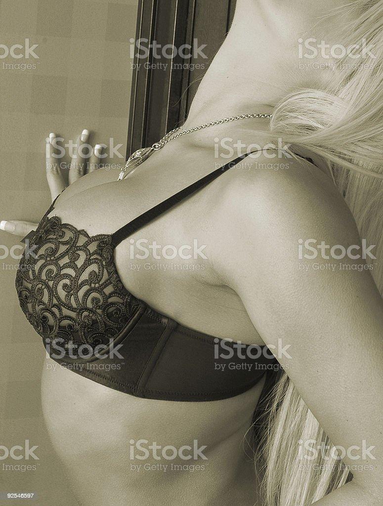 black lace bra royalty-free stock photo