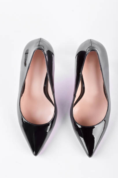 b667b678039b Top Elegant Expensive Black High Heel Women Shoes On White Background  Pictures