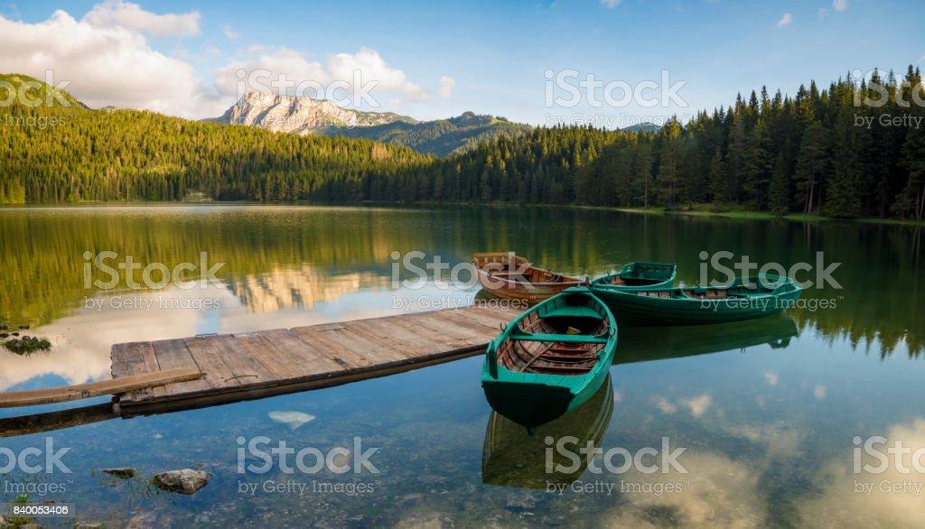 Black lake, Durmitor, Montenegro stock photo
