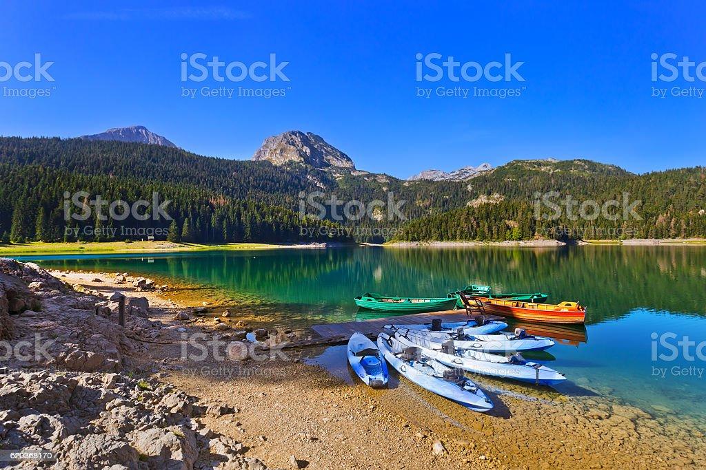 Black Lake (Crno Jezero) in Durmitor - Montenegro zbiór zdjęć royalty-free