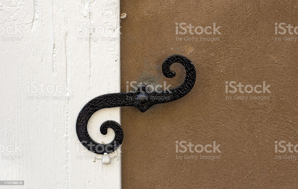 Black Latch royalty-free stock photo