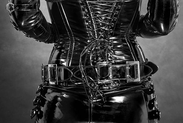 black latex corset  corset stock pictures, royalty-free photos & images