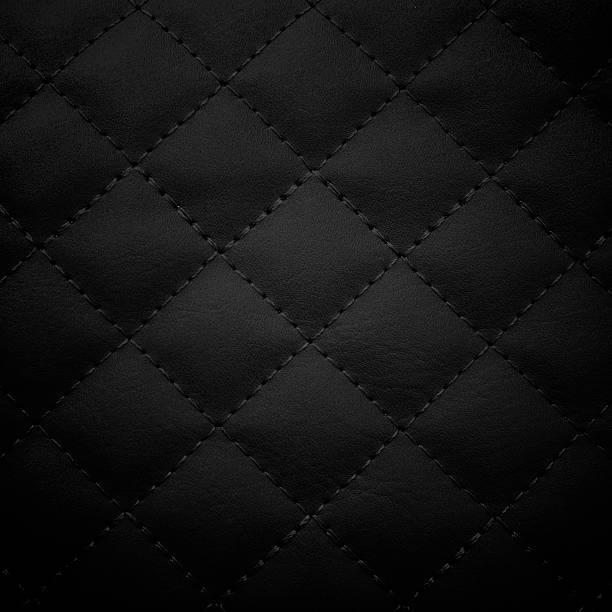 Fondo de cuero negro, - foto de stock