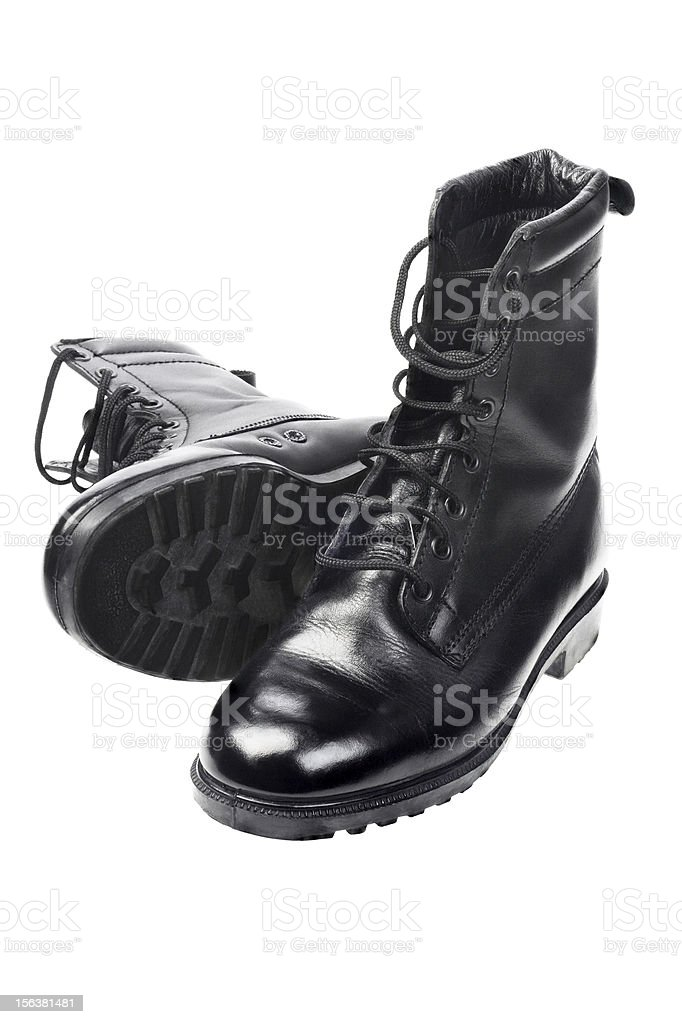 Black Leather Boots royalty-free stock photo