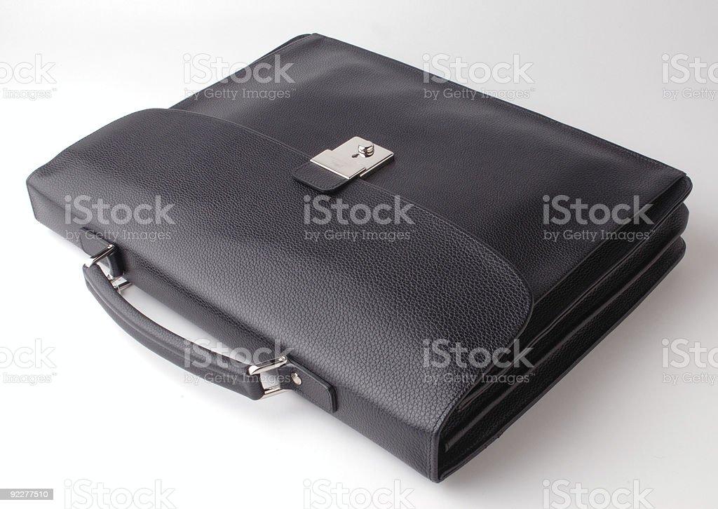 Caja de cuero negro - foto de stock